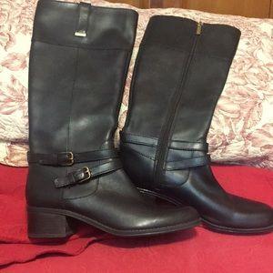 Bandolino Carlotta Dark Brown Leather Boots